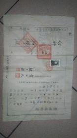 1955年,四川三台县师范学校学历证明书,带存根,