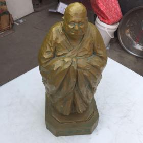 老木雕雕刻人物像老发师和尚像高50宽20重12斤<卖家外行购者自鉴>木雕非常精细包真包老