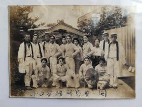 大正年间日本舞蹈研究会合影照片