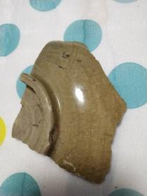 茉莉瓷片~宋代哥窑碗带底碎瓷片