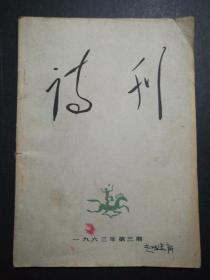 诗刊(1963年第3期)