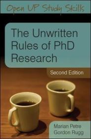 The Unwritten Rules Of Phd Research 英文原版 博士研究的不成文法则