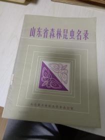 山东省森林昆虫名录