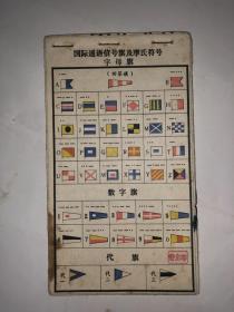国际通语信号旗及摩氏符号 字母旗