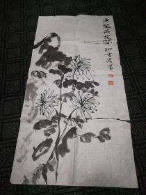 姚雷国画小品:东篱黄花闲(16)98cm*50cm