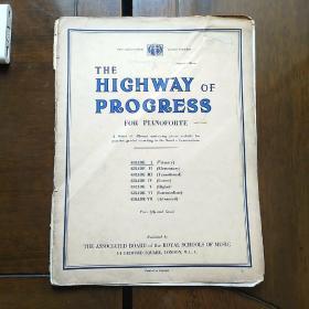 外国老乐谱:进步之路(钢琴)