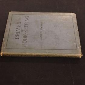 民国英文版 PRIMER OF BOOK KEEPING(内附两张民国英文笔记)