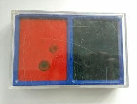 双色原子印台  红蓝印台(尺寸,品见图)