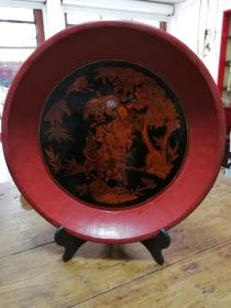 6漆器:民国十里红妆果盘