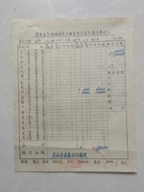 冀东区长城煤矿账表(1.2.3)车守辅售及军政及优待票收入  等三种一套