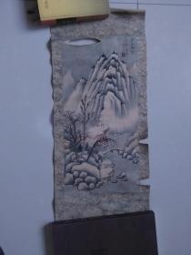 【高山积雪.一九八零年元月写 手绘:王金海.天津】