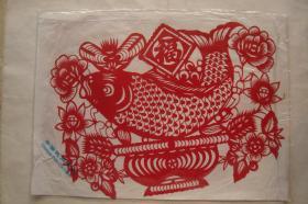 中国民间剪纸 福  一套2张全