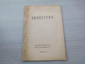 印刷通用汉字字形表(16开平装1本,1964年12月一版一印)