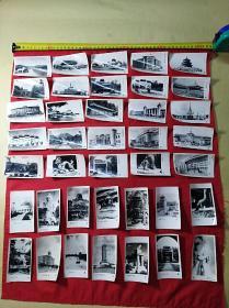 早期带款印建筑景点:老照片(39张合售)