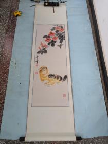 著名画家乐山精品动物猫一幅