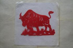 中国民间剪纸 生肖牛 1张