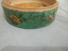 清代绿油彩盒