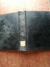 【2625   BI0LOGICAL REVIEWS生物學評論 1940年1940-1941、15--16  外文原版  精裝