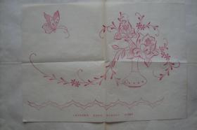 绣花纸样  上海市豫园商场 4开 1张