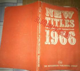 NEW TITLES SECOND SIX MONTHS1966