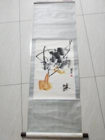 著名画家:  范文    【花鸟】     原装凌表   68x44厘米