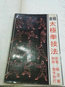 杨家太极拳技法  附散手对打
