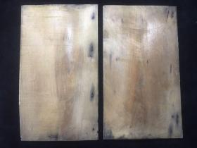 【铁牍精舍】【文房材料】 清末民初楠木板一对,可改碑帖夹板或古籍夹板,30.5x17.5cm