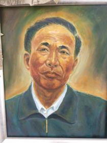 油画肖像。