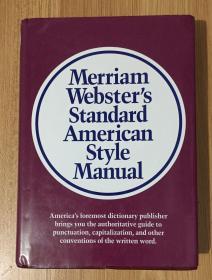 Merriam-Websters Standard American Style Manual 9780877791331 0877791333