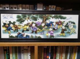 景德镇婴戏瓷板画