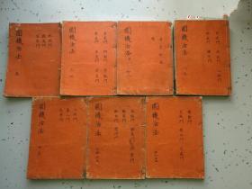 日本宽文13年【1673年,康熙12年】刻本《圆机活法》散本共计7本合售。。