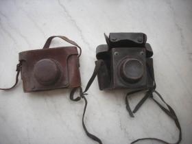民国或五十年代【老相机皮套】2个合售!