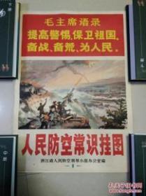 人民防空常识挂图 1-18张全套 (一版一印 有毛主席语录、宣传画色彩突出)