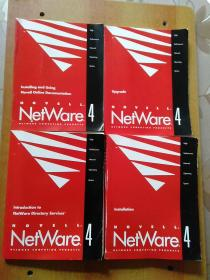 【英文书4册合售】NOVELL NETWARE4:Installation、Upgrade、Installing and Using Novell Online Documentation 、Introduction to NetWare Directory Services