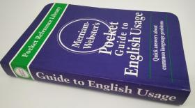 英语用法袖珍词典Merriam Webster's Pocket Guide to English Usage