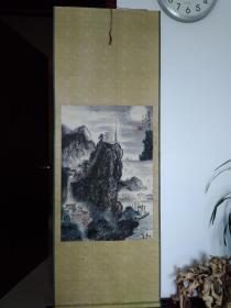 徐金堤《夜半钟声》1993年 188x67cm