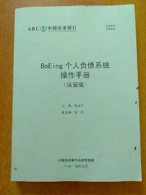 中国农业银行 BoEing个人负债系统操作手册(运营版)