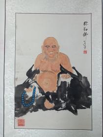 张氏弥勒佛盘坐画像作品