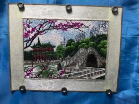 刺绣立体画 Embroidered three-dimensional painting