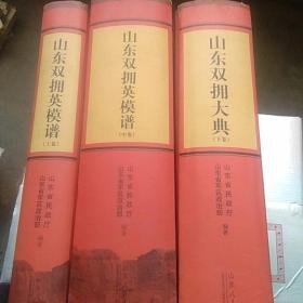 山东双拥英模谱,上中下3卷合售(精装,超重)