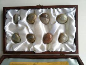 金陵雨花石,每枚约4cmX3cm