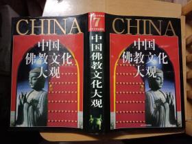 《中国佛教文化大观 》--精装带护封 1版1印   书9品如图