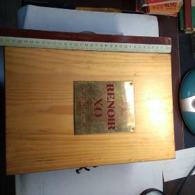 雷诺法国XO白兰地   木盒子,空瓶子