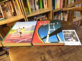 2本合售:Algebra 1  + Algebra  2   代数2本   非同一出版社出版   英文原版教材美国原版教材英文教材