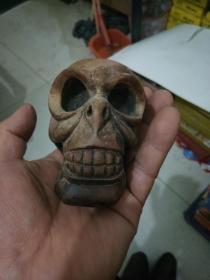 木雕 骷髅头