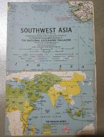 National Geographic國家地理雜志地圖系列之1963年5月 Southwest Asia 亞洲西南部地圖