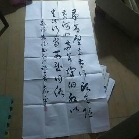 傅嘉平少将大幅书法