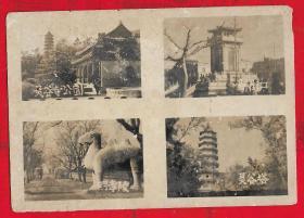50年代【南京风景老照片一以图为准、】一张。品如图