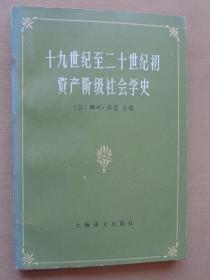 十九世纪至二十世纪初资产阶级社会学史