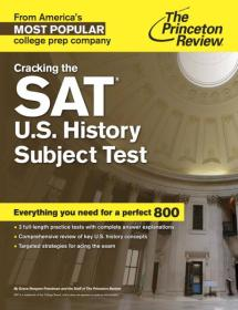 SAT U.S. History Subject Test /Princeton Review Princeton Review Random House Children's Books 2015-01 9780804125727